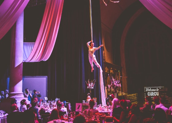 Solo aerial silks for you wedding or event entertainment by The 2 Lisa's